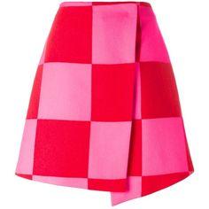 MSGM checked mini skirt (¥46,180) ❤ liked on Polyvore featuring skirts, mini skirts, short mini skirts, pink mini skirt, checkerboard skirt, print skirt and checkered skirt
