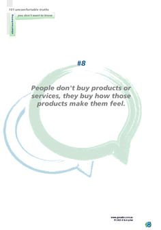 No 8 People don't buy products...