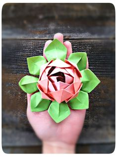 DIY Origami lotus flower tutorial