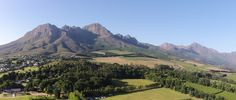 Helderberg Mountain, Somerset West, South Africa - Aerial