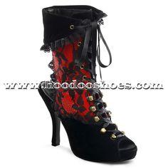 Funtasma Heels Pirate Red Costume Shoes