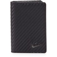 Nike Woven Leather Bi-Fold Card Case ($18) ❤ liked on Polyvore featuring bags, wallets, blk, woven leather wallet, card case wallet, bifold wallet, woven leather bag and bi-fold wallets