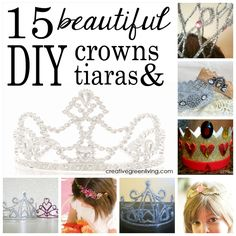 15 DIY crowns and tiaras for International Tiara Day on May 24...hehe we could have fun for a wedding tiara. Some of them are gorgeous!