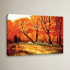 Found it at Wayfair - Autumn Blaze Painting Print on Wrapped Canvas