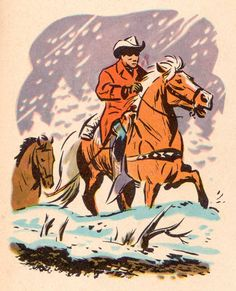 Roy Rogers Vintage Cowboy Art Illustration Pinterest