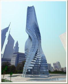 Avances tecnológicos: Un edificio que rota 360 grados. – Asusta2