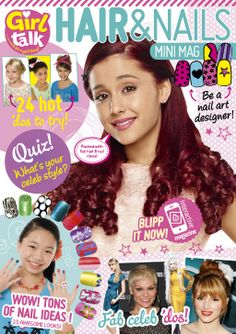 Virtually try on fab hair and nail looks with the latest blippable #GirlTalkMag,