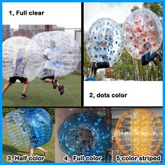 color style of bubble footballs