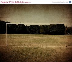 FLASH SALE The Old Soccer Field Boys Room Wall by shawnstpeter