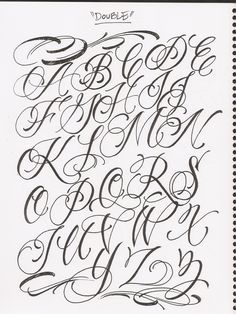 Images For > Fancy Cursive Fonts Alphabet For Tattoos