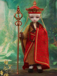 球体関節人形 西遊記 Tang Monk 男 26cm フルセット販売
