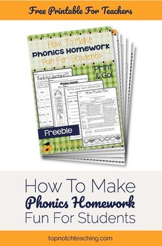 It can be time-consuming coming up with fun and engaging activities for your students to practice and review the phonics learning you have done in class. Wouldn't you love to have phonics homework ready to roll? This phonics homework pack takes all the stress out of creating and organizing your phonics homework. Right now you can get two weekly phonics homework packs…free! #Toddlerphonics #Learnphonics
