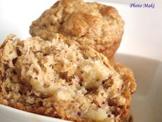 Muffin_sant__aux_Bananes_copie Banana Bread Muffins, Beignets, Biscuits, Clean Eating, Deserts, Sugar, Cooking, Breakfast, Cake