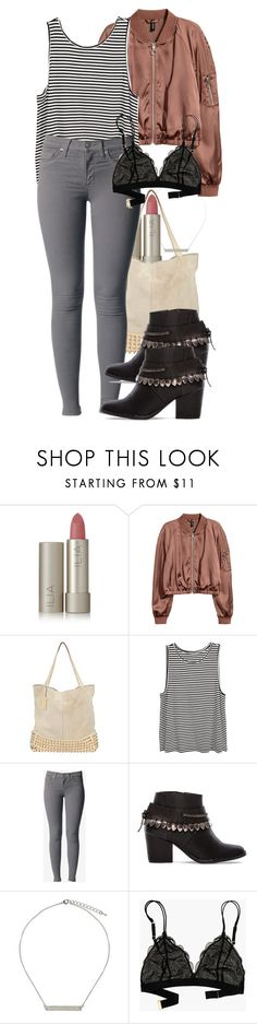 """""""Damon inspired birthday outfit"""" by tvdstyleblog ❤ liked on Polyvore featuring Ilia, H&M, Hudson Jeans, Freda Salvador, Topshop and Madewell"""