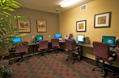 BUSINESS CENTER: One of our many amenities included at The Pavilion on Berry