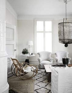 The Home of The Owners of Artilleriet, Sweden | Style&Minimalism Family Furniture, New Furniture, Online Furniture, Vintage Furniture, Furniture Design, Vintage Stool, Vintage Chairs, Small Wooden Stool, Farmhouse Side Table