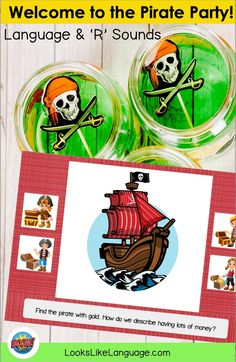 Boom cards and pirates=so much learning fun! This interactive game for mixed articulation and language groups works on R sounds in varied positions, Wh questions, concepts and vocabulary. Great for speech therapy, homeschooling, and 'talk like a pirate day!' Wh Questions, This Or That Questions, Pirate Day, Speech Therapy, Fun Learning, Vocabulary, Pirates, Homeschool, About Me Blog