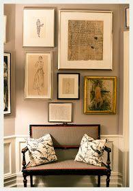 Gallery wall. Framed art