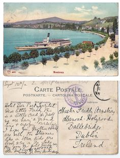A vintage postcard from Montreux