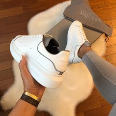 New babes Details on app (link in my bio) Girls Sneakers, Casual Sneakers, Sneakers Fashion, Casual Shoes, Shoes Sneakers, Shoes Heels, Alexander Mcqueen Sneakers, Winter Sneakers, Expensive Shoes