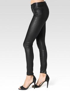 PAIGE® | Verdugo | Super Skinny Black Leather Pants