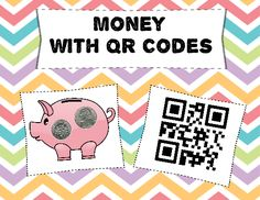 Great editable classroom materials @teachersherpa Students will practice counting coins with this math center. They count the money on the piggy banks, write their answer on the worksheet and check their work with a QR code reader. Student directions are included for the center. Print out the center pieces. I suggest this center be laminated for long term use. Cut out and store the center pieces in a manila envelope or a Zip Lock baggie. Clipart by Teacher Sherpa and Zip-A-Dee-Doo-Dah.