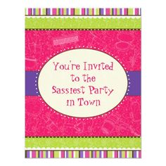 Spa Birthday Party Invitations Sassy Girl Birthday Party Invitation