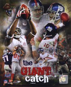 Eli Manning & David Tyree 'The Catch' SuperBowl Xlii Portrait Plus Photo Print x New York Giants Football, Football Team, G Man, Nfl, Art Prints, Portrait, Jets, Arsenal
