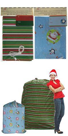 Set of 2 Giant Gift Bags Jumbo Christmas Sacks For Extra Large Presents Bikes Assorted Sizes