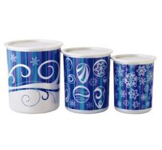 #Tupperware is having a #Christmas in July sale. Get this Winter Canister Set for only $16.99 Hurry before the sale ends.   Click on picture to order