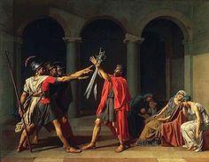 Il giuramento degli Orazi; Jacques-Louis David; olio su tela; 1784-5; Musèe du Louvre, Parigi, Francia.