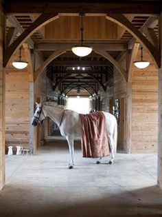 The sight of your horse's head poked over its stall door, nickering for breakfast, is enough to make any equestrian happy. Dream Stables, Dream Barn, Horse Stables, Horse Barns, All The Pretty Horses, Beautiful Horses, Animals Beautiful, Adorable Animals, Future Farms