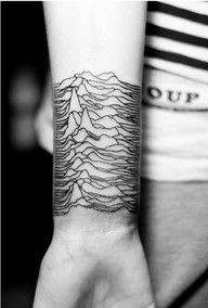 Joy Division - Unknown Pleasures #Tatttoo. Add some colors and soil horizon shading and I'd have an amazing geology minded tattoo