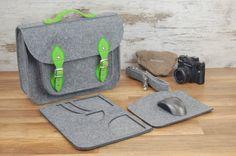 Felt Laptop 17 inch bag with pocket, vegan bag satchel, Macbook Pro 17 inch, CUSTOM SIZE Laptop bag
