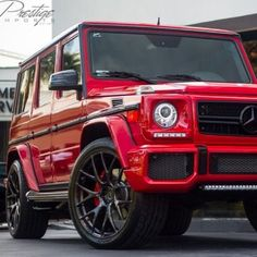 """Pretty In Red... Mercedes-Benz G Class"