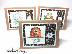 Bear Elephant Owl Parent to Child Handmade Cards by TimelessWhimsy