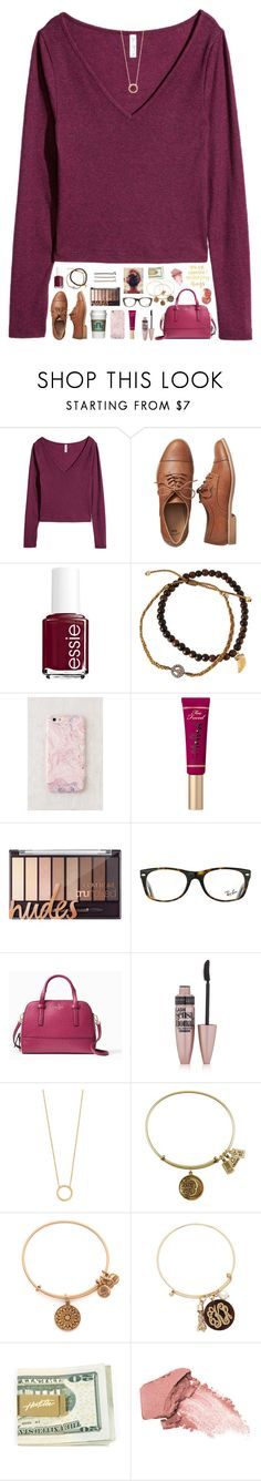 """""""let's get lost in a world full of rainy days, good books and hot cocoa☔️☕️📚"""" by tropical-girl-xo ❤ liked on Polyvore featuring Gap, Essie, Tai, Understated Leather, Guide London, Ray-Ban, Kate Spade, Maybelline, Jennifer Zeuner and Alex and Ani"""