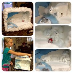Polar Bear diorama school project.