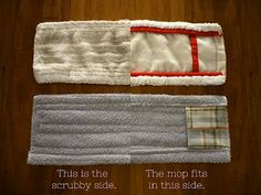 Old towel--New mop pad  I'm making a couple of these babies.