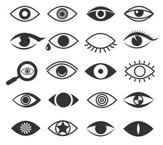 Eyes eye vision vector icons set by MicroOne on @creativemarket
