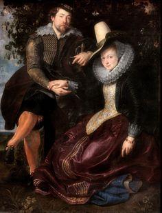 Pieter Paul Rubens, Autoritratto con la moglie Isabella Brant, ( 1609), München, Alte Pinakothek