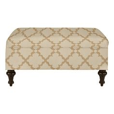 Castered Tufted Storage Ottoman Ballard Designs many fabric