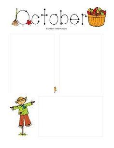 The Crafty Teacher: October Newsletter Template | Classroom ideas ...