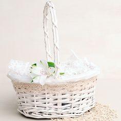 cesta para bodas color blanco