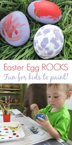 Easter Egg Rocks - Fun Easter Craft Idea for Kids