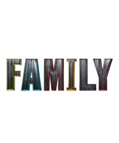This Mirror 'Family' Letter Set by IMAX is perfect! #zulilyfinds