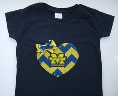 University of Michigan Inspired Girls Game Day Navy by TokenBlonde, $19.00