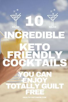 Want to keep the party going but without falling out of your ketogenic diet? Try these delicious 10 low carb keto cocktail recipes. Keto alcohol drinks to let you enjoy a bit of booze without worrying about your diet. These keto cocktails include La Croix, vodka, rum, tequila and are all easy to make. #lowcarbalcohol #ketodiet #ketogenicdiet #keto #ketococktails #lowcarbcocktails