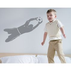 Style and Apply Goal Keeper Wall Decal (24in x 7in )