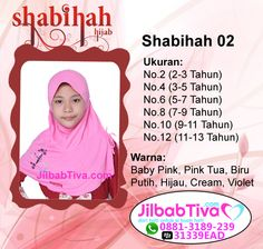 Shabihah Hijab adalah brand jilbab anak dengan desain bordir yang cantik, unik, manis dan ceria. Harga No.2 => Rp.30.000,00 Murah, lucu dan imut.